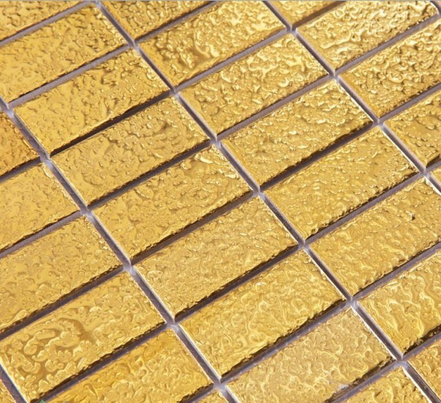 Ceramic Pool Tile Mosaic Gold Wall Fireplace Decor 1 Quot X 2