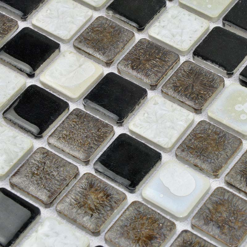 Porcelain Tile Mosaic Square Surface Art Tiles Kitchen Backsplash Wall  Sticker Bathroom Shower ...