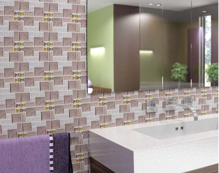 Porcelain Mosaic Bathroom Wall And Floor Tile   Hd 300