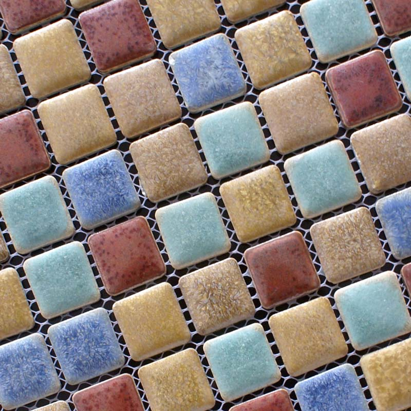 Porcelain Mosaic Floor Tile Backsplash Square Shower Tile Swimming Pool  Tiles Wall Kitchen Ideas ...