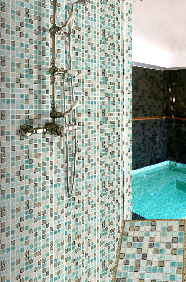 Wholesale porcelain tile mosaic square shower tiles Mosaic tile designs for shower
