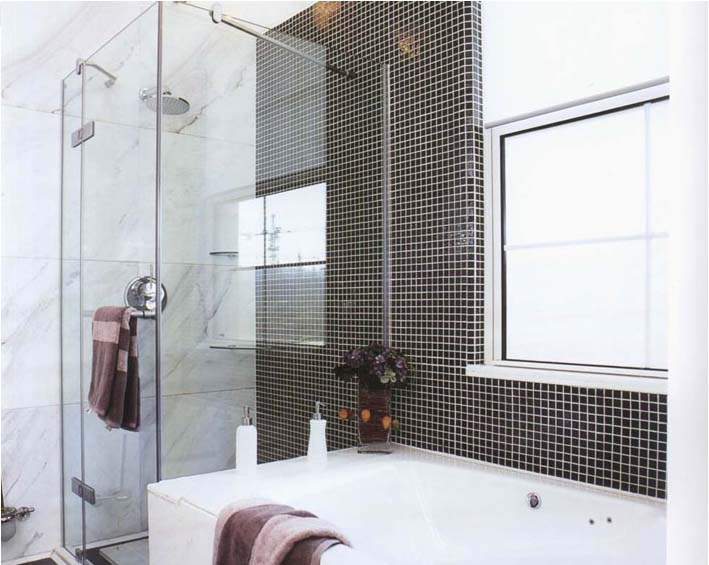 porcelain tile bathroom shower wall sticker - hb-009
