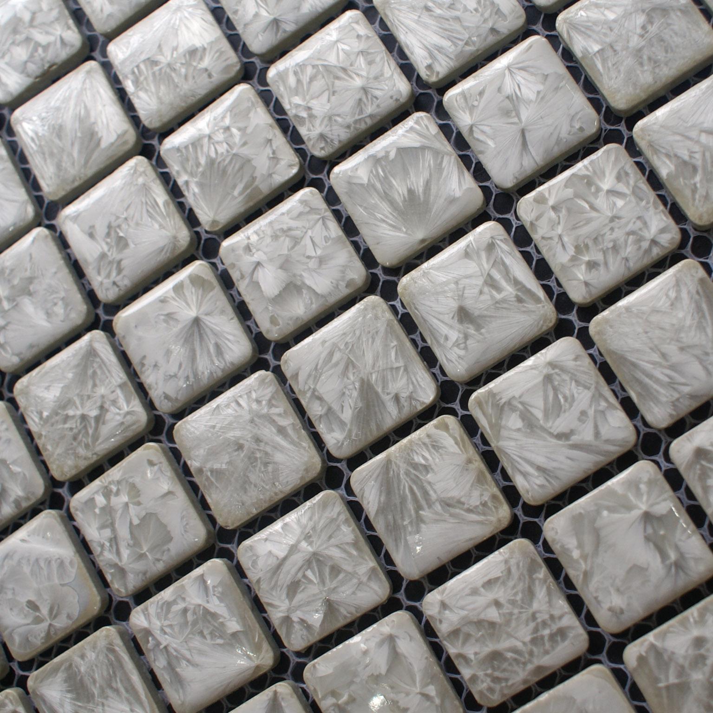 Porcelain Tile Snowflake Style Mosaic Art Design