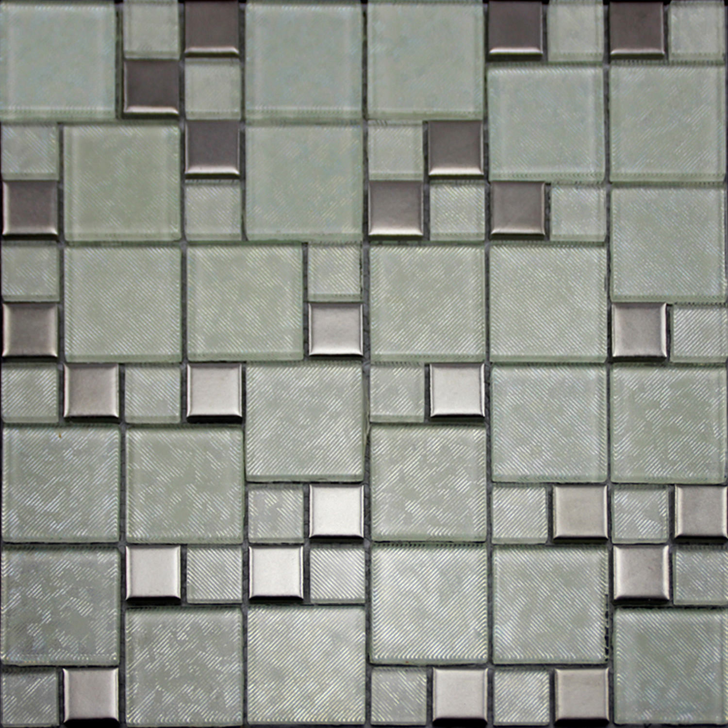 Crystal glass tiles brushed patterns bathroom wall tile Mosaic tile wall designs