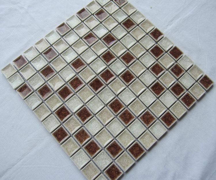 Crackle Glass Tile With Porcelain Base Bathroom Wall Tiles