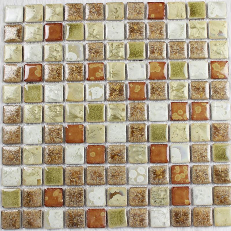 Glazed Porcelain Square Mosaic Tiles Wall Designs Ceramic Tile Flooring Kitchen Backsplash Ju 669