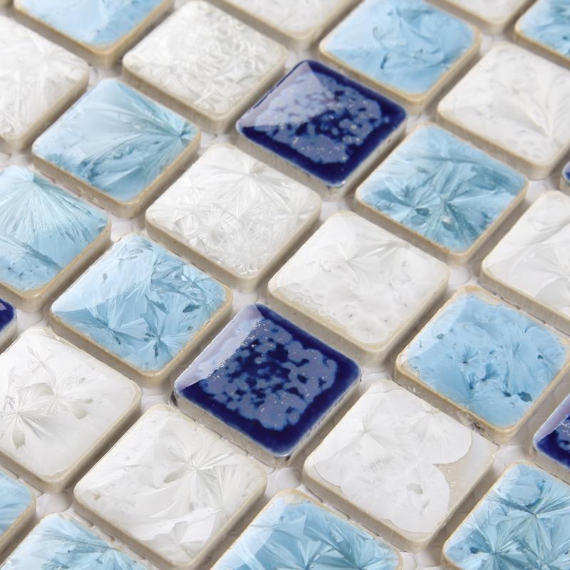 porcelain tile snowflake style mosaic art design. Black Bedroom Furniture Sets. Home Design Ideas