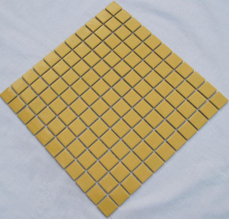 Glazed Porcelain Square Mosaic Tiles Design Gold Ceramic