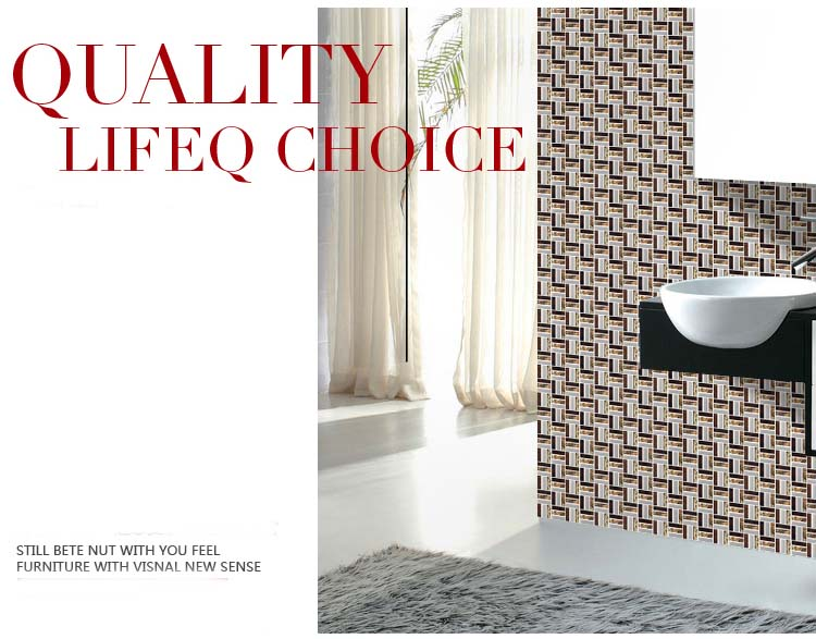 quality glass mosaic bathroom wall tile - d197