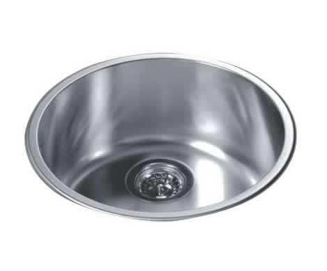 Wholesale Round Kitchen Sink Top Mount Single Bowl 304 Stainless Steel,  18/10 Chrome Nickel 20 Gauge