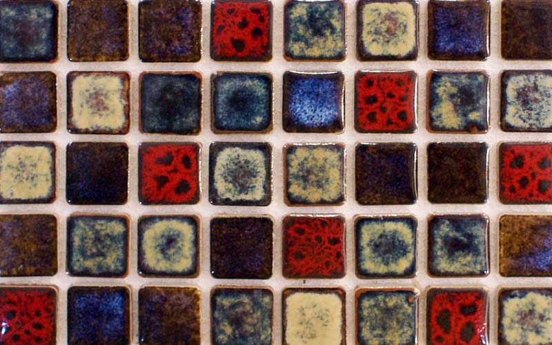 square mosaic tile kitchen backsplash - adt142