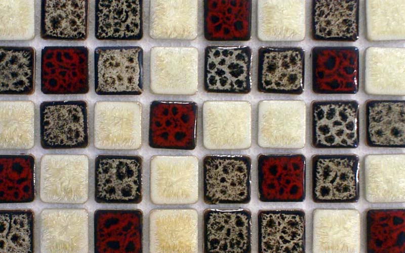 square mosaic tile kitchen backsplash - adt152