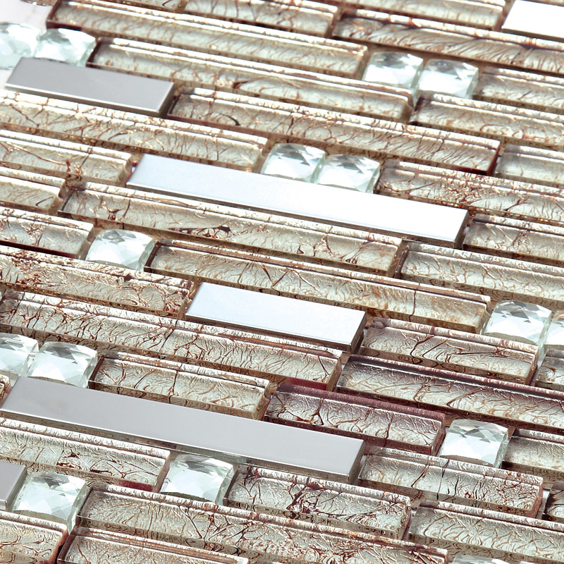 Silver Metal Tile Backsplash Kitchen Cheap Stainless Steel