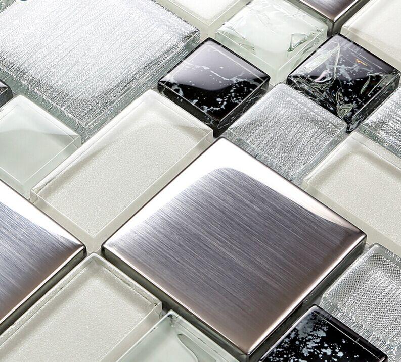 Metallic Backsplash Tile Brush 304 Stainless Steel Metal