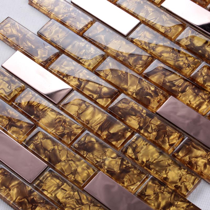 backsplash tiles silver 304 stainless steel sheet metal and crystal