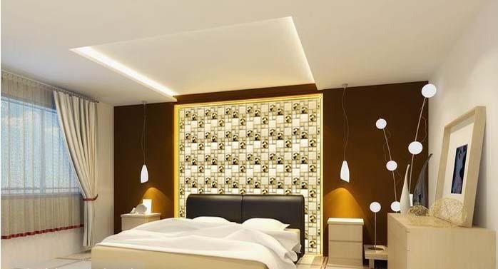 stainless steel glass blend mosaic bedroom wall tiles kl882 - Metal Tile Bedroom Design