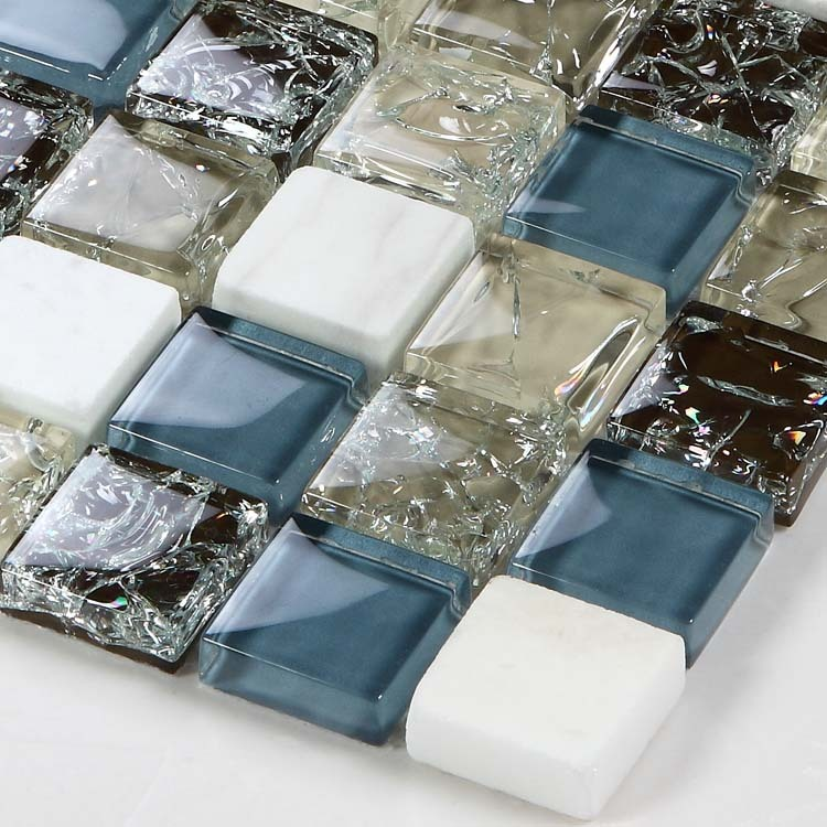 stone glass mosaic tile crackle wall sticker - l316