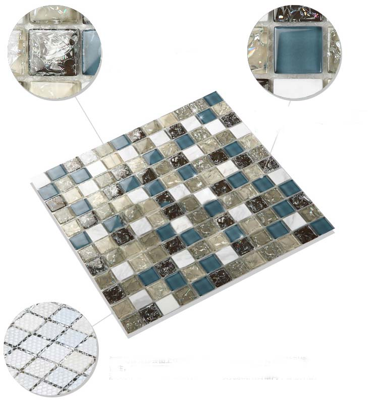 stone glass mosaic tile features - l316