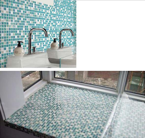 Wholesale Cream Stone With Crackle Crystal Mosaic Tile