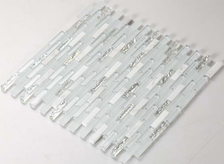 Wholesale Stone With Frosted Crystal Mosaic Tile Sheet