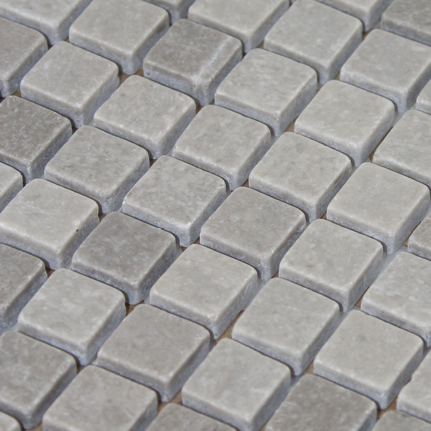 Tile Inlay Patterns : Stone mosaic tile gray patterns bathroom wall marble