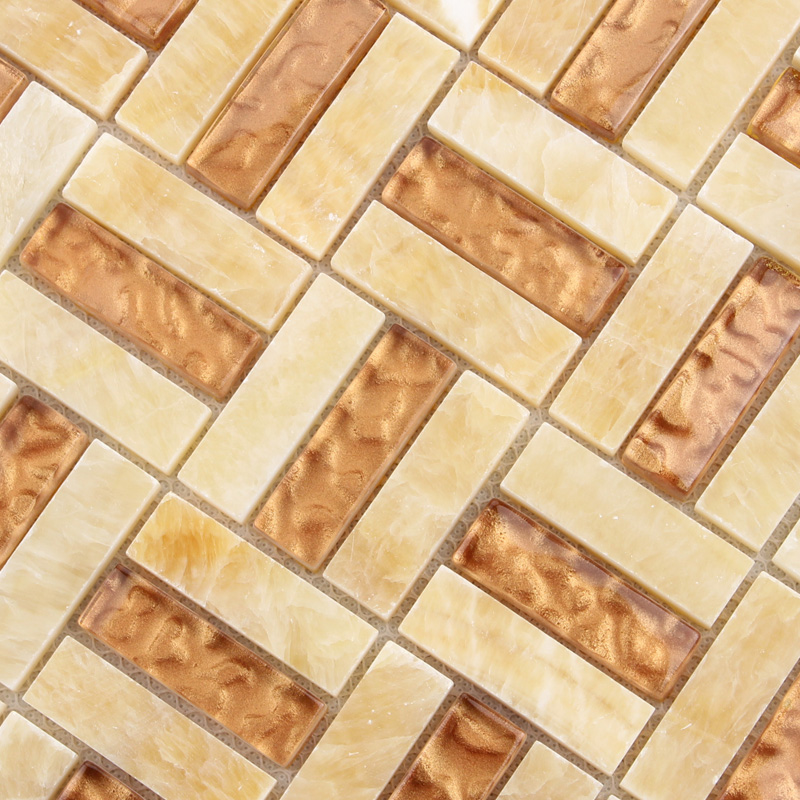 backsplash tiles sheet metal and crystal glass blend mosaic wall
