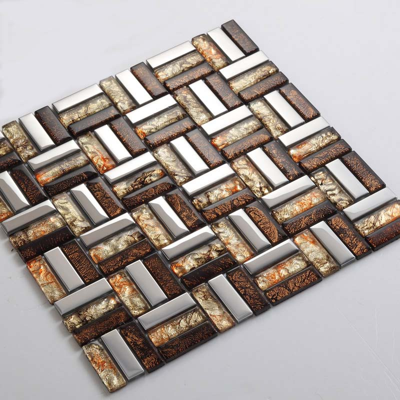 vitreous mosaic metal coating tile - d197