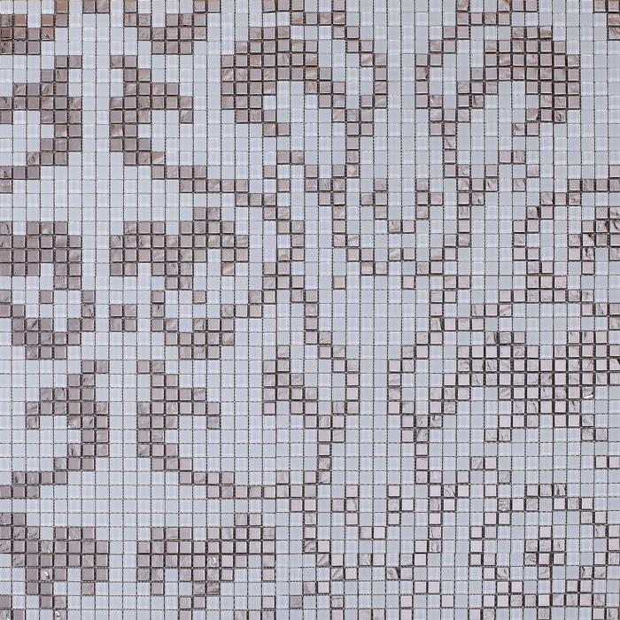 Silver Glass Plate Wall Decoration Cream Art Mosaic Floor