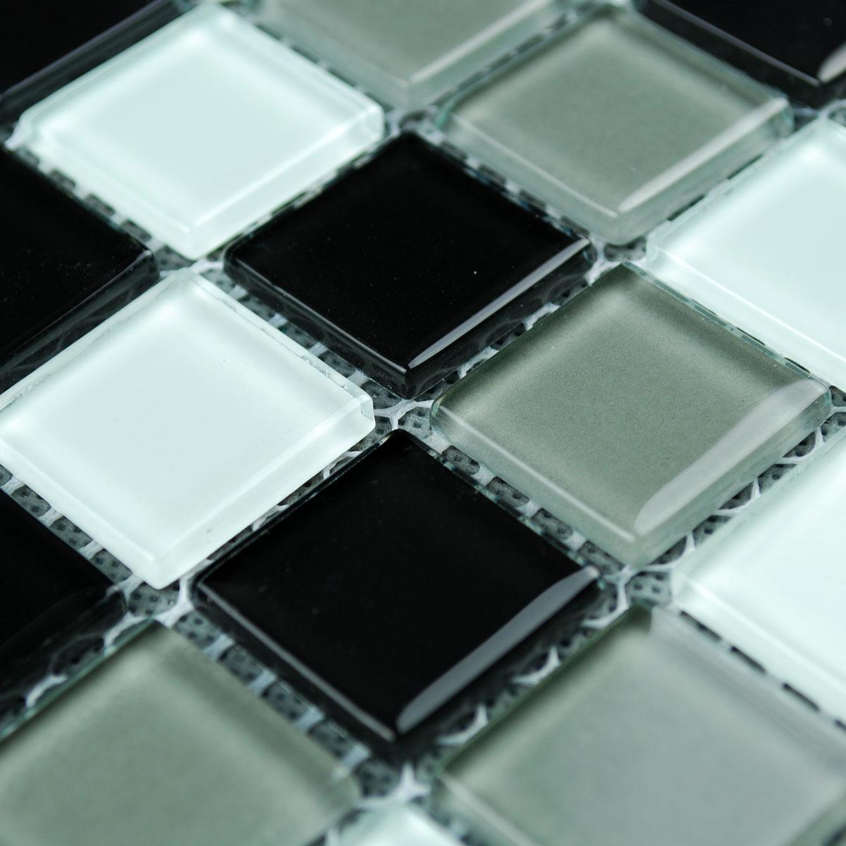 Wholesale Vitreous Mosaic Tile Crystal Glass Backsplash Washroom ...