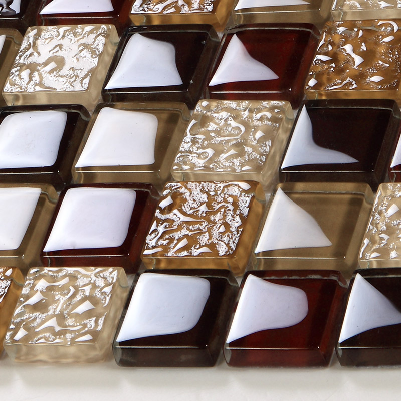 front of crystal glass tile vitreous mosaic wall tiles gh33 - Wall Tiles Design