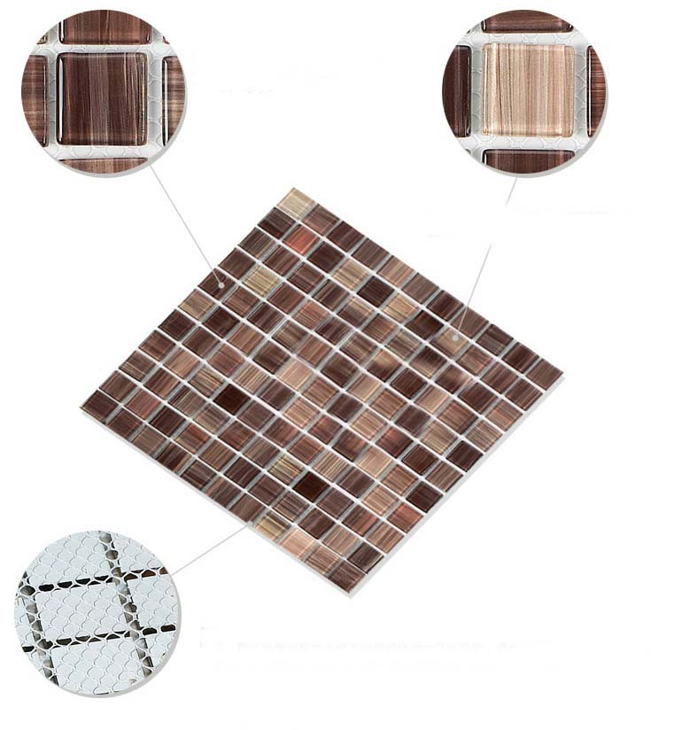 vitreous mosaic tile design - b128