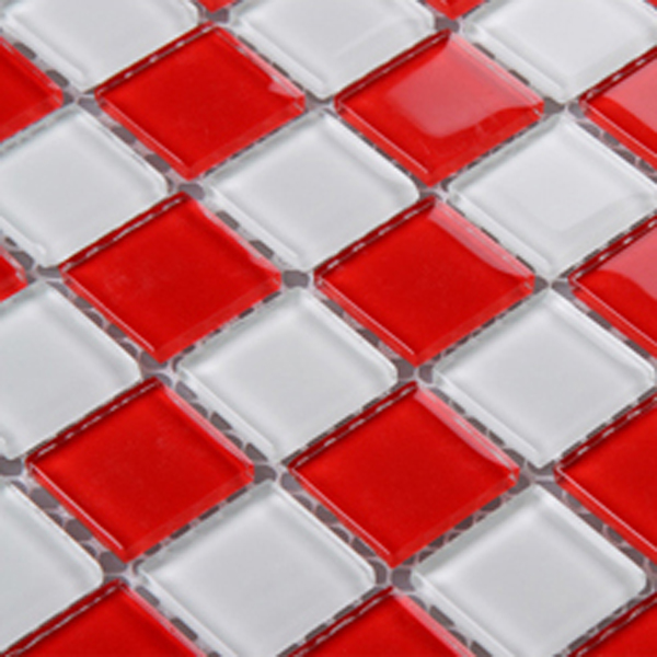 Glass Mosaic Tile Sheets Kitchen Backsplash Cheap 3031 Red
