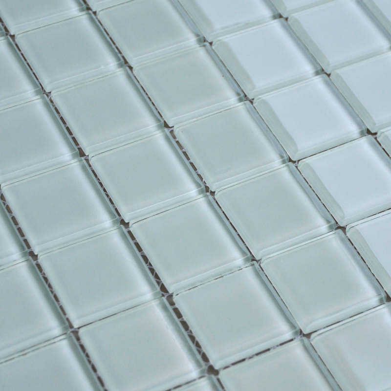 White Crystal Glass Mosaic Tile Design Kitchen Backsplash Bathroom Wall  Floor Stickers ...